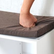 Schuhschrank/Sitzbank, weiß
