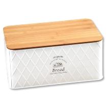 Brotbox mit Schneidebrett, Metall