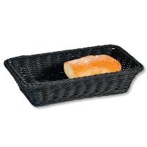 Brot- und Obstkorb, schwarz