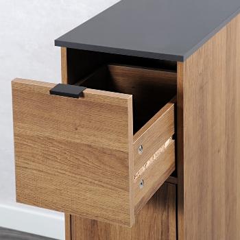 Nischenregal, Holzdekor