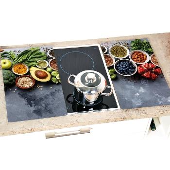 """Herdabdeckplatte 2er Set - """"Healthy Kitchen"""""""