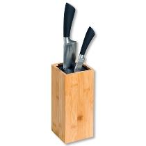 Messerblock mit Kunststoffborsten, Bambus