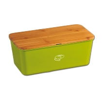Brotbox mit Schneidebrett, grün