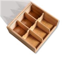 Tee-Box mit Sichtfenster, Bambus