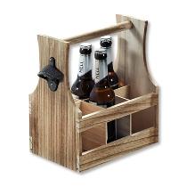 Flaschenträger, Paulownia - geflammt