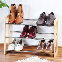 Schuhregal, ausziehbar, Kiefer