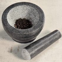 Mörser mit Schlegel, Granit